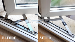 window hinges replaced jammed hinge stiff hinge