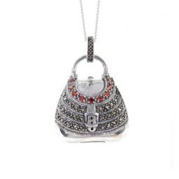 Lily Blanche Garnet Handbag Locket