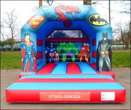 Superheroes Bouncy Castle