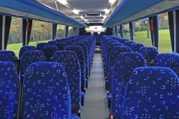 70 seater with 3 point seat belts
