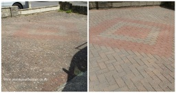 Driveway block paving cleaning