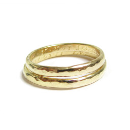 Hammered Gold wedding bands