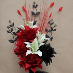 Artificial Flowers Red And Black