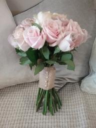 Classic Pink Rose Bridal Bouquet
