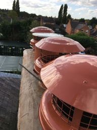 New weather cowls and mortar flaunching