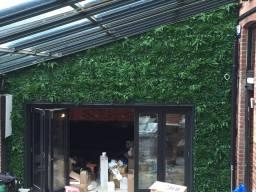 decorative green wall