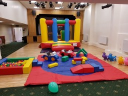 Multi coloured soft play package