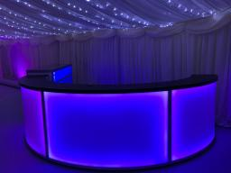 Led curved bar hire