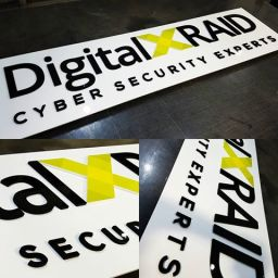 Acrylic Panels with Flat cut Acrylic lettering