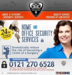 emergency locksmith Anytime Locksmiths Birmingham