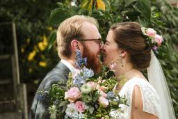 Sabina and Tom's garden wedding