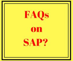 FAQs on SAP