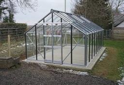 Elite greenhouse on concrete base. Coleraine