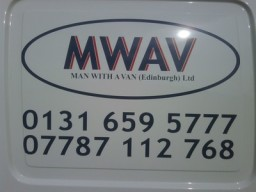 07787112768 Telephone Number. Man with a van Edinburgh Ltd.