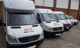 Ace Rent A Van fleet, Luton or transit van hire