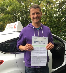 passed his driving test