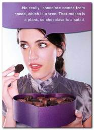No really...chocolate comes from cocoa, which is a