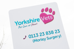 Yorkshire Vets Morley sign
