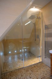 bespoke shaped shower sreen