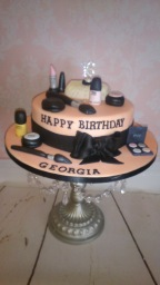 Make-up cake for a teenager