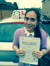 a-class driving school passing student