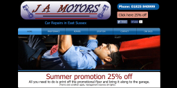 J A Motors Website