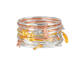 Lily Blanche Charm Bangles for stacking