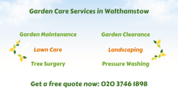 Gardening Services in Walthamstow