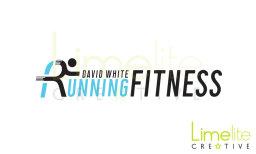David White Running Fitness logo design