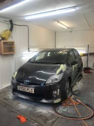 Toyota Prius being repaired