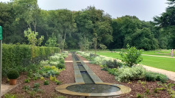 Rill water feature at Kings Weston House