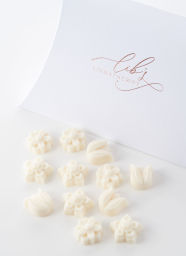 Flower shaped scented wax melts
