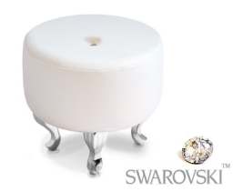 Small buttoned footstool