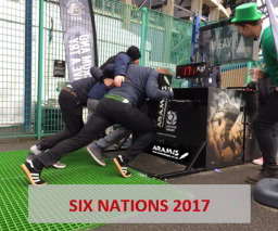 Aramis Rugby Digital Scrum Machine at Six Nations