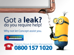 Call us... If your property is damaged.