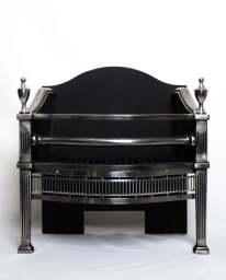 Regency polished fire baskets