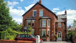 This is Chester Brooklands Bed and Breakfast as you can see in a beautiful leafy area, offering a free car park to all 4 of our rooms guests with all rooms located at the back overlooking the garden.