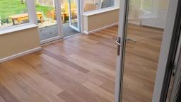 Oak Flooring Laid