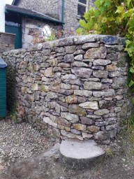 Re-build of retaining garden wall
