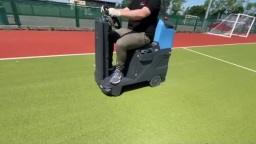 Sanitising of outdoor football pitch