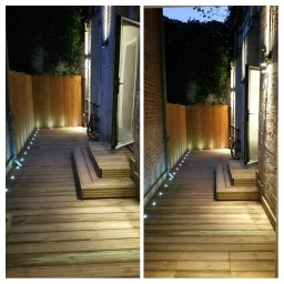 Streatham Rear Patio with LED RGBW lighting