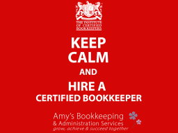 Amy's Bookkeeping, ICB Certified Bookkeeper