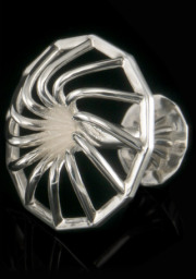 high-gloss silver 'Turbine' cufflinks