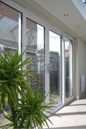Sliding patio doors at Admiral Windows showsite