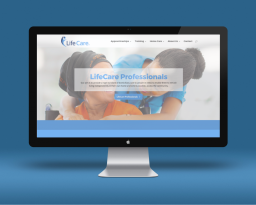 Our website for the Lifecare charity