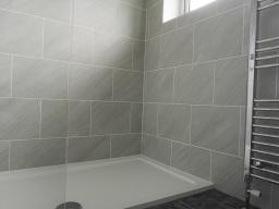 Ceramic wall tiling in Taunton, Somerset.