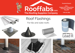 Roof Flashings in various styles, sizes & colours.