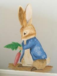 Peter Rabbit wall painting