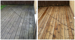 Decking cleaning and sealing