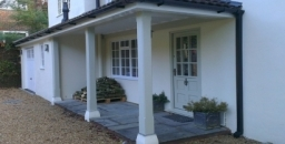 A porch and extension project on a 70's house in Haslemere